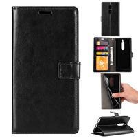 Wallet PU kožené knížkové pouzdro na Nokia 5 - černé