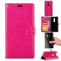 Wallet PU kožené knížkové pouzdro na Nokia 5 - rose