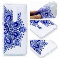 Print silikonový obal na mobil Nokia 5.1 - modrý lotus