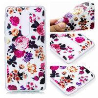 Print silikonový obal na mobil Nokia 5.1 - barevné květy