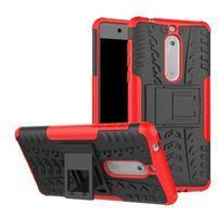 Outdoor odolný hybridní obal na Nokia 5 - červený