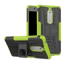 Outdoor odolný hybridní obal na Nokia 5 - zelený