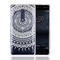 Mandala hybridní gelový obal na Nokia 5 - bílý