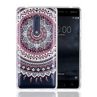 Mandala hybridní gelový obal na Nokia 5 - růžový