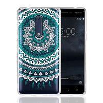Mandala hybridní gelový obal na Nokia 5 - zelený