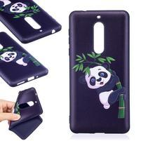 Patt gelový obal na Nokia 5 - panda na větvičce