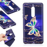 Patt gelový obal na Nokia 5 - zlatí motýlci