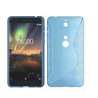 S-line silikonový kryt na mobil Nokia 6.1 - modrý