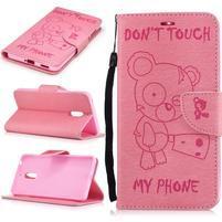 BadBeer peněženkové pouzdro na Nokia 6 - růžové