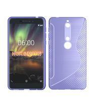S-line silikonový kryt na mobil Nokia 6.1 - fialový