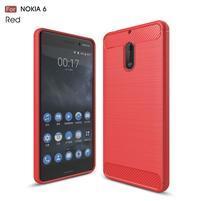 Carbo odolný obal se zesílenými rohy na Nokia 6 - červený