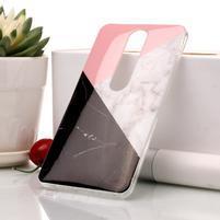 Marble silikonový kryt na mobil Nokia 6.1 - tříbarevný