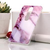 Marble silikonový kryt na mobil Nokia 6.1 - růžovobílý