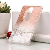 Marble silikonový kryt na mobil Nokia 6.1 - oranžovošedý