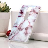 Marble silikonový kryt na mobil Nokia 6.1 - fialový