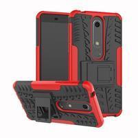 Outdoor odolný obal se stojánkem na Nokia 6.1 - červený