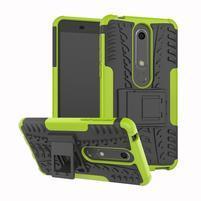 Outdoor odolný obal se stojánkem na Nokia 6.1 - zelený