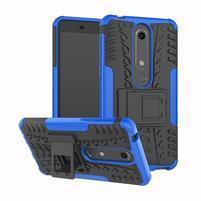 Outdoor odolný obal se stojánkem na Nokia 6.1 - modrý
