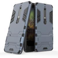Defender odolný hybridní obal se stojánkem na Nokia 6.1 - tmavě modrý