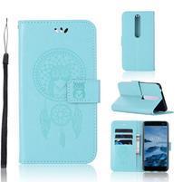 Dream PU kožené peněženkové pouzdro na mobil Nokia 6.1 - zelené