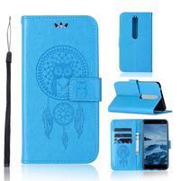 Dream PU kožené peněženkové pouzdro na mobil Nokia 6.1 - modré