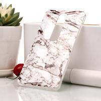 Marble silikonový kryt na mobil Nokia 6.1 - bílošedý
