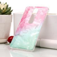 Marble silikonový kryt na mobil Nokia 6.1 - zelenorůžový