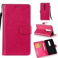 Print PU kožené pouzdro na mobil Nokia 6.1 - rose