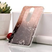 Marble silikonový kryt na mobil Nokia 6.1 - oranžovočerný