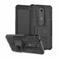 Outdoor odolný obal se stojánkem na Nokia 6.1 - černý