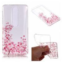 Printy silikonový kryt na mobil Nokia 6.1 - růžové květy