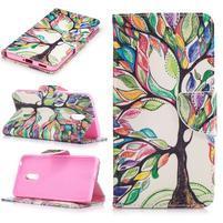 Emotive PU kožené pouzdro na mobil Nokia 6 - malovaný strom