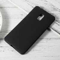Matný gelový obal na mobil Nokia 6 - černý