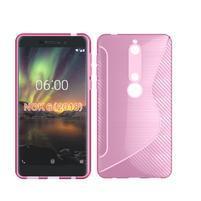 S-line silikonový kryt na mobil Nokia 6.1 - růžový