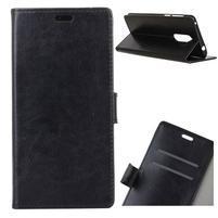 Horse PU kožené pouzdro na Nokia 7 Plus - černé