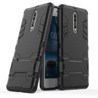 Defender odolný obal se stojánkem na Nokia 8 - černý