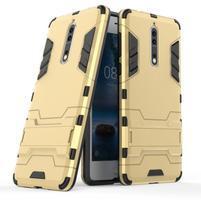 Defender odolný obal se stojánkem na Nokia 8 - zlatý