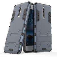 Defender odolný obal se stojánkem na Nokia 8 - tmavěmodrý