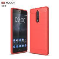 Carbon odolný gelový obal na Nokia 8 - červený