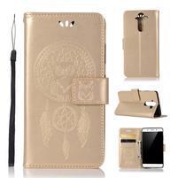Dream PU kožené pouzdro na mobil Nokia 8 Sirocco - zlaté