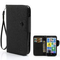 Peněženkové pouzdro na Nokia Lumia 625 - černé
