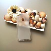 Matný gelový obal na mobil Nubia N1 - transparentní