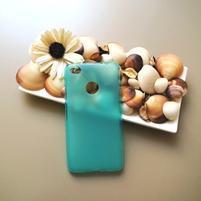 Matný gelový obal na mobil Nubia N1 - modrý