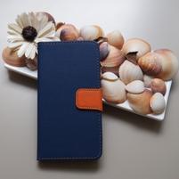 Duocolor PU kožené pouzdro na mobil Nubia Z11 - modré