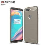 Carb gelový odolný obal na mobil OnePlus 5T - šedý