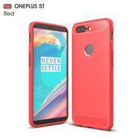 Carb gelový odolný obal na mobil OnePlus 5T - červený
