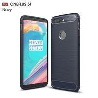 Carb gelový odolný obal na mobil OnePlus 5T - tmavěmodrý