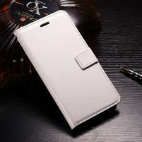 Horse PU kožené peněženkové pouzdro na OnePlus 5T - bílé