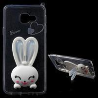 Gelový obal s králíčkem na Samsung Galaxy A3 (2016) - bílý
