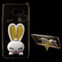 Gelový obal s králíčkem na Samsung Galaxy A3 (2016) - champagne